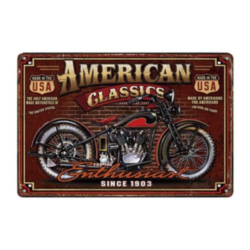 Metal Tin Sign American Classic Moto Bar Pub Accueil Rétro Vintage Poster CAFE ART