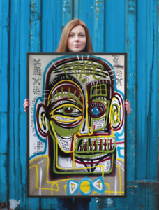NEO-Street-Art-Graffiti-Face-Print-Urban-Abstract-Modern-Poster-Quotes-Wall-Deco