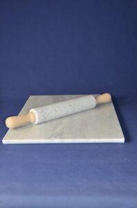 Piano-rettangolare-in-marmo-Carrara-60x40-cm-con-mattarello-Carrara-marble-top