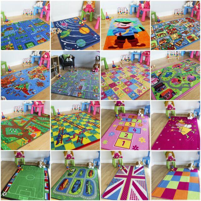 Childrens Large Girls Boys Bedroom Playroom Floor Mat Baby Mat Kids Play Fun Rug