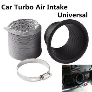Universal Car Front Bumper Turbo Air Intake Pipe Turbine Inlet Pipe Air Funnel