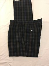 VTG Brooks Brothers Tartan Plaid Pants Lightweight Golf Men's Sz 38x34