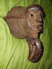 Fantastico VINTAGE Africana Dan cerimoniale Maschera Tribale... COSTA D'AVORIO
