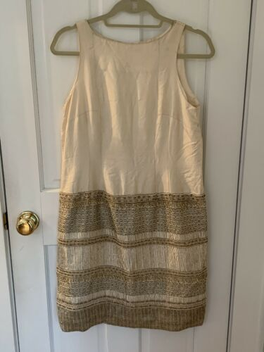 Rare Vintage Silk Beaded Evening Dress Gown And Ja