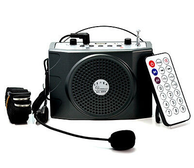 Brand RB-898 Portable Loudspeaker Waistband Voice Booster PA Amplifier FM MP3