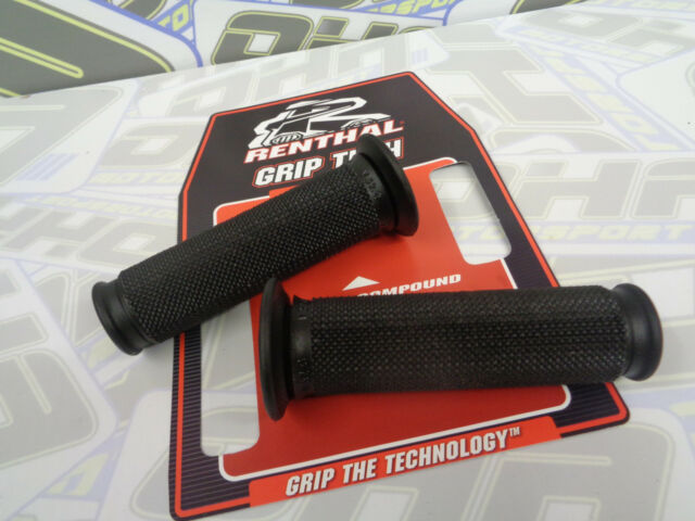 Renthal Extra Firm Motorcycle Street or Road Race Handlebar Grips Black - NEW