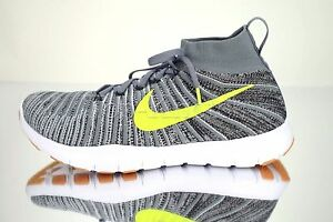 6bb5a44a1a0b NIKE FREE TRAIN FORCE FLYKNIT Running Shoes 833275 - 005 Grey   Volt ...