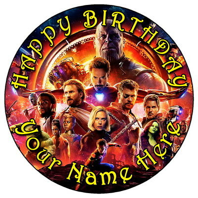 "7.5/"" personnalisée comestible glaçage cake topper 3 Black Panther Marvel Avengers"