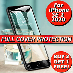For iPhone SE 2 2020 Genuine Full Cover Gorilla Tempered Glass Screen Protector