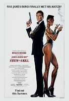 James Bond: A View To A Kill Roger Moore Usa Movie Advance Poster 1985