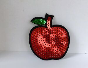 SNOW-WHITE-RED-APPLE-SEQUIN-EMBROIDERED-APPLIQUE-PATCH-SEW-OR-IRON-ON-65