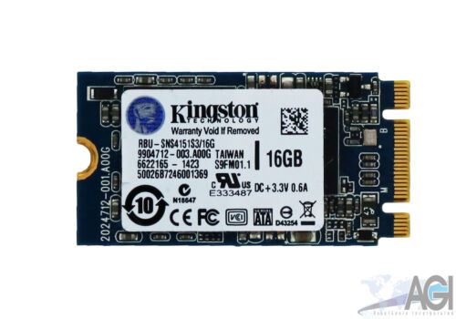 Kingston SATA III SSD M.2 16GB w// Chrome OS C720 C720P RBU-SNS4151S3//16GD