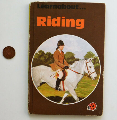 1 of 1 - RIDING Ladybird book children's Learnabout horses animals ponies vintage 1970s