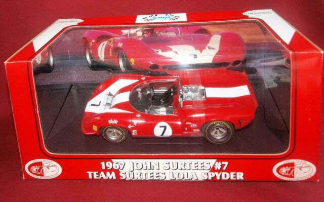 Perfect RARE JOHN SURTEES  #7 1967 Can Am Lola Spyder 1:18 Fully Opening by GMP