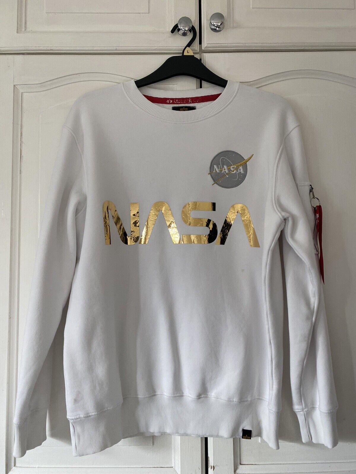 White Alpha industries Sweatshirt Large