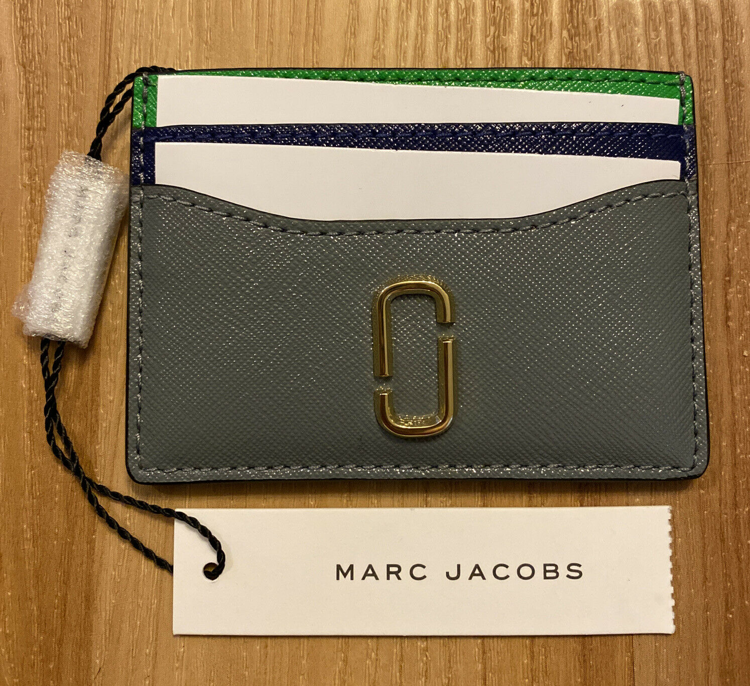Marc Jacobs The Snapshot Card Case Slate Multi M0013355-990 NWT