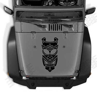 Tiki Head tribal decal vinyl sticker kahuna Hawaiian fits any truck Jeep s10 TK2