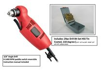 "3//8/"" RIGHT ANGLE ANGLED HEAD CLOSE QUARTERS OFF-SET ELECTRIC DRILL POWER TOOL"
