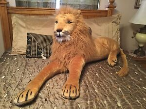 83 giant plush jumbo stuffed lion king animals soft huge real toy gift lifelike ebay. Black Bedroom Furniture Sets. Home Design Ideas