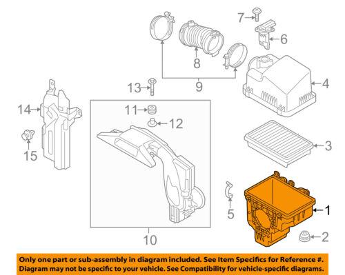 MAZDA OEM 14-18 3 Air Cleaner Box-Bottom Lower Housing Body PEAR133AY