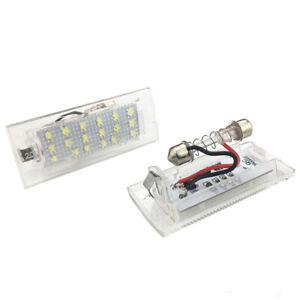 BMW-E53-X5-E83-X3-LED-SET-Kennzeichenbeleuchtung-Kennzeichen-Leuchte-kaltweis