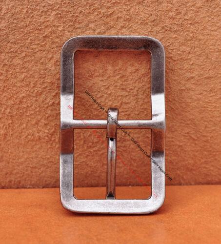 Men Antique Silver Western Pin Center Bar Leather Belt Buckle Fit 30MM Straps