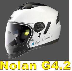 """/"""" XL /"""" WHITE CASCO NOLAN GREX G4.2 N-COM  EX N43E AIR BIANCO COL.4 Tg"""