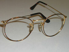 46mm vintage bl ray ban tortuga round aviator sunglasseseyeglass frames only