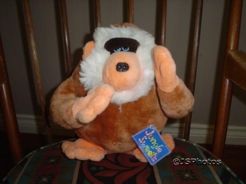 Mighty Star Bonbon Sitting Baboon 10 Inch Plush Jungle Sweets Vintage