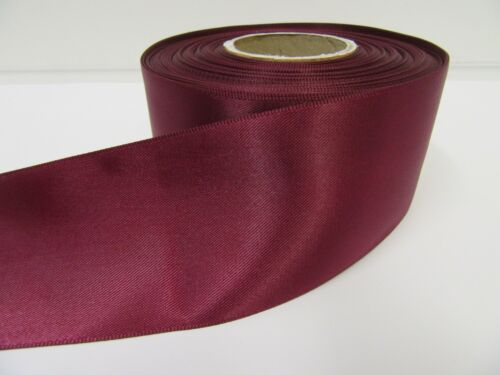 3mm 7mm 10mm 15mm 25mm 38mm 50mm BURGUNDY WINE CLARET Satin Ribbon Double Sided
