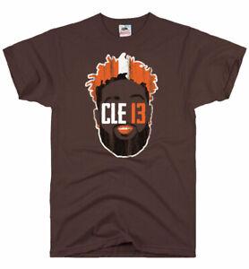 the best attitude 768c4 b7a5b Details about OBJ Cleveland Browns Odell Beckham Jr Jersey T-Shirt