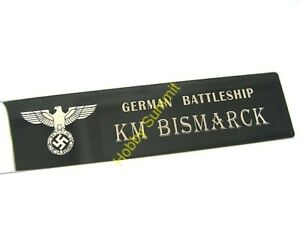 Small-German-Battleship-BISMARCK-Matal-NAMEPLATE-WWII-German-Navy-1-350-1-700