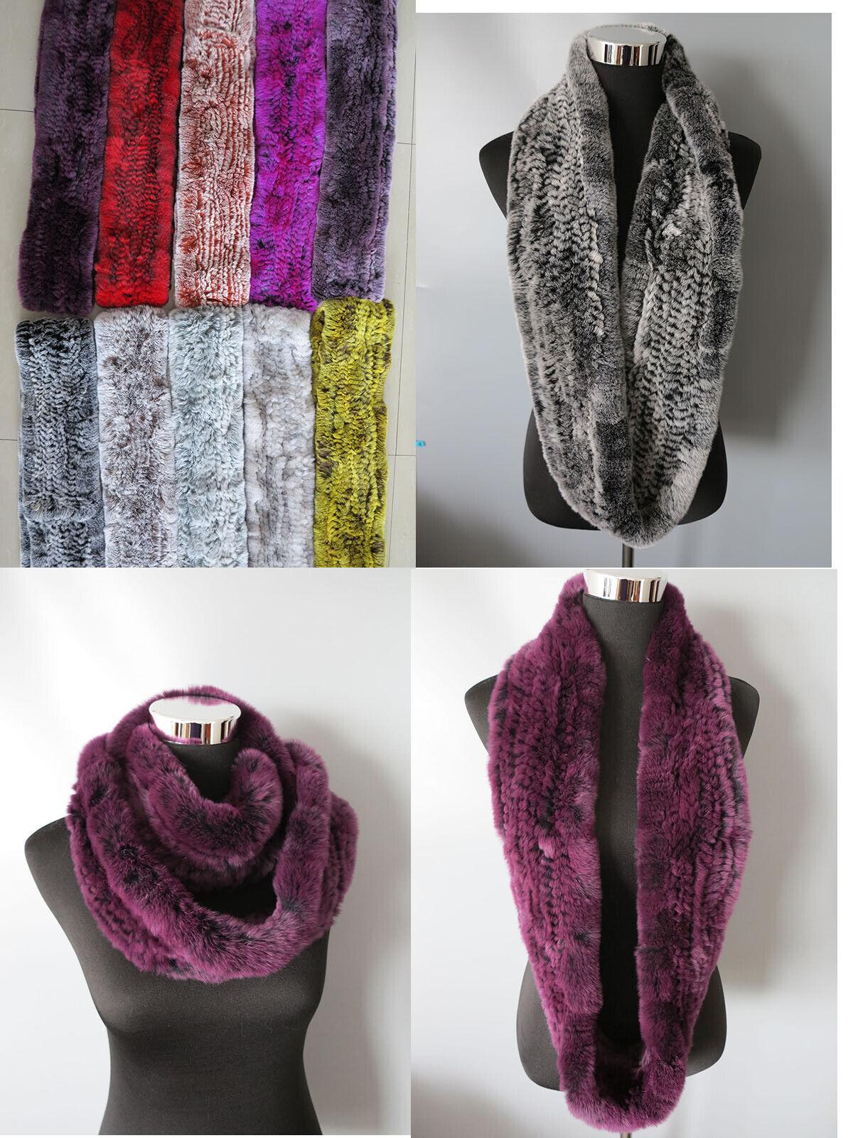 100% real rex rabbit fur scarf/ collar / fur wrap/circl