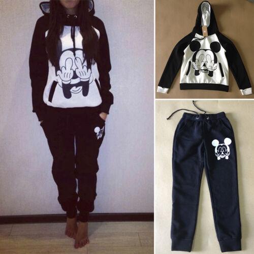 2Pcs Women/'s Tracksuit Hoodies Sweatshirts Tops Pants Set Sports Lounge Wear