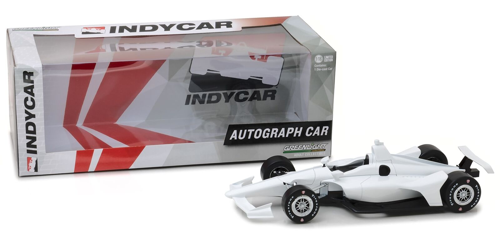 1 18 2018 White Autograph IndyCar (New Dallara Universal Aero Kit Tooling)
