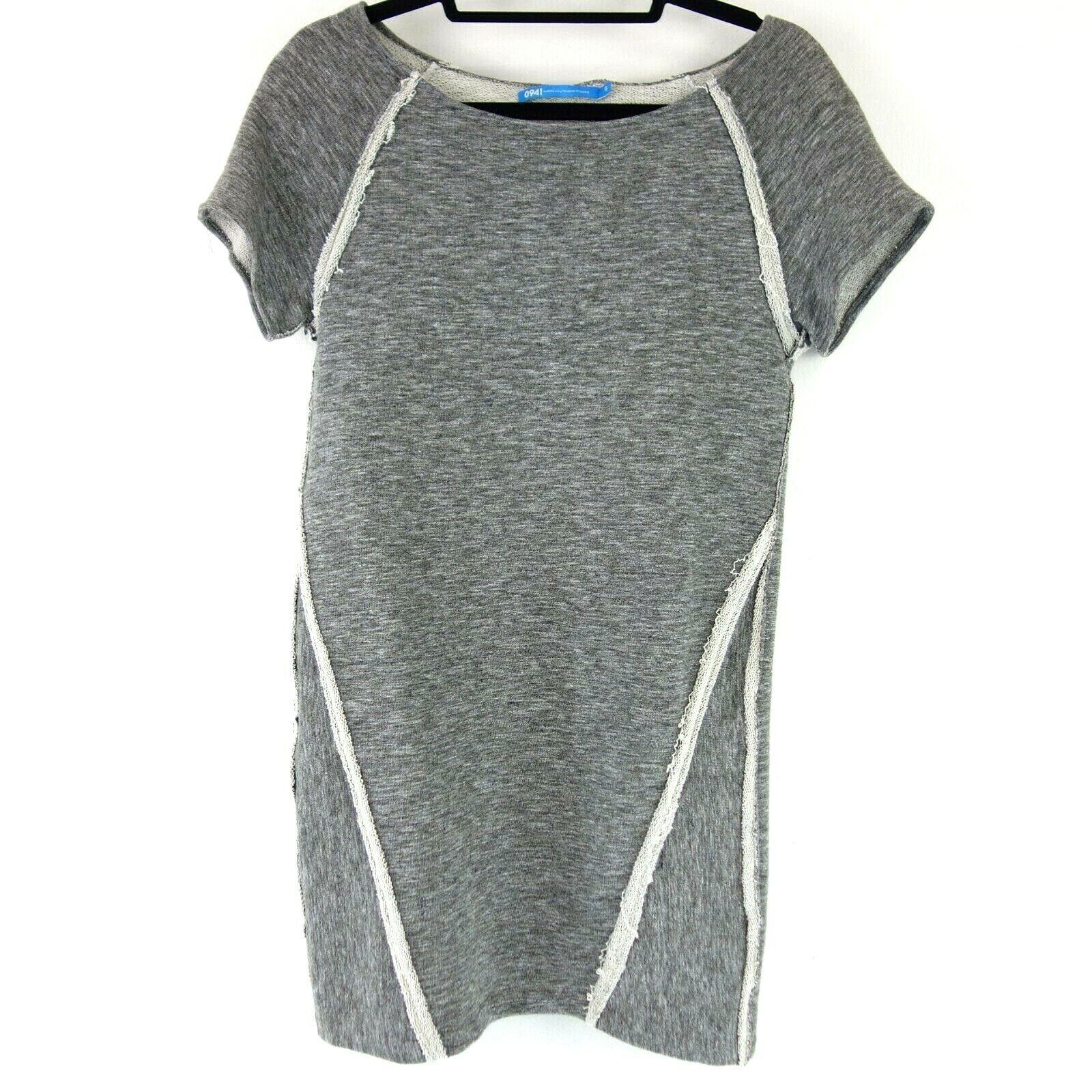 0941 Damen Kleid Gr 0 XS 34 Anthrazit meliert meliert meliert Mini Baumwolle Jersey NP 199 NEU   | Verrückter Preis  |   | Beliebte Empfehlung  859355