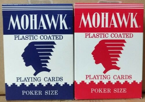 1 Set 2 decks MOHAWK Playing Cards Blue+Red-S10501-甲H1