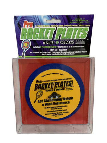 Details about  /Pro Racket Plates Tennis Squash Racquetball Training Weights Set Of 8 NIP