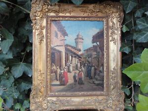 rare-ancien-tableau-orientaliste-par-augustin-REGIS