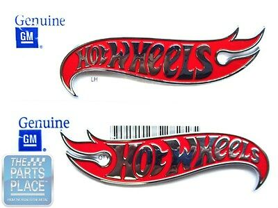 Chevy Camaro Hot Wheels LH /& RH Fender Emblems Red /& Chrome by General Motors