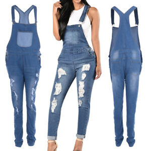 93553c2957e 2018 Fashion Womens Denim Casual Jumpsuits Hole Jeans Romper Overall ...