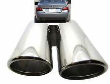 Car Sport Stainless Steel Exhaust Tip Muffler Trim Pipe BMW 5 series 520 530 535