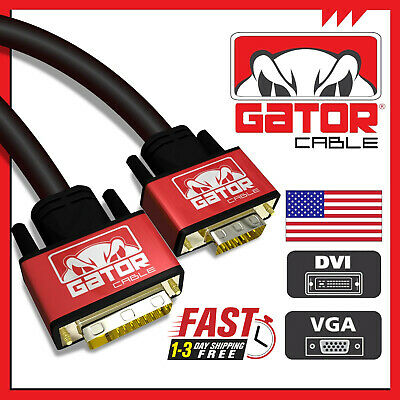10FT DVI 24+5 to VGA M M Male to Male Heavy Duty Cable