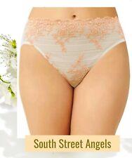 NWT Wacoal EMBRACE LACE Bikini or Hi Cut Brief Panty Dew//Coral Pink 841191