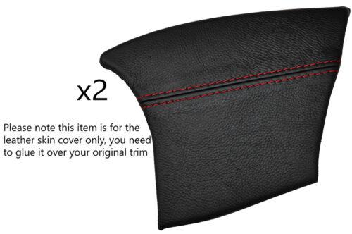 RED STITCH 2X REAR CONSOLE SIDE TRIM SKIN COVERS FITS PORSCHE BOXSTER 986