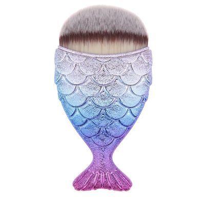 Mermaid Tail Fish Cosmetic Brush Powder Cream Foundation Women Makeup Blush -AU