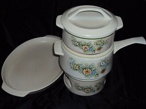 TEMPERWARE-BY-LENOX-FLORAL-FANTASY-FONDUE-POT-BOWL-WARMER-STAND-SERVING-PLATE
