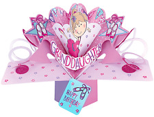 3D Pop Up Card Happy Birthday Butterflies Pink Greeting Cards Keepsake Gift