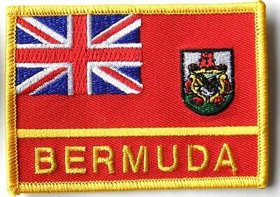 BERMUDA INTERNATIONAL EMBROIDERED FLAG PATCH 2 X 3 INCHES