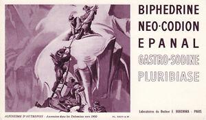 Buvard-Biphedrine-Alpinisme-d-039-autrefois-Pl-XXIV